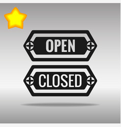 open and closed black icon button logo symbol vector image vector image