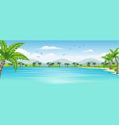 a tropical coastal landscape vector image