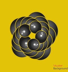 Abstract background 3D fractalon the yellow vector