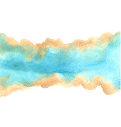 Abstract brown and blue watercolor background vector