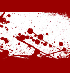 Abstract paint splatter red color isolated vector