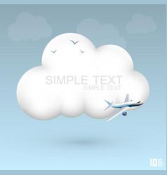 air cloud vector image