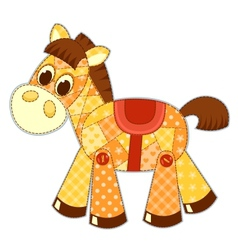 Application horse isolated vector image