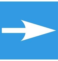 Arrow Axis X flat white color icon vector
