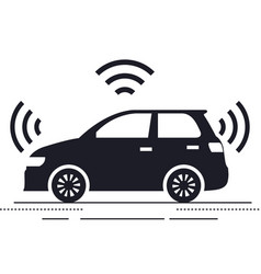 Autonomous car isolated icon vector