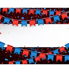 Banner with flags vector image
