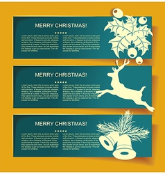 Beautiful Christmas banners with reindeer vector image