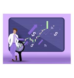 Big data deep learning stock market graph vector