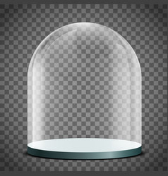 Blank glass dome on a transparent background vector