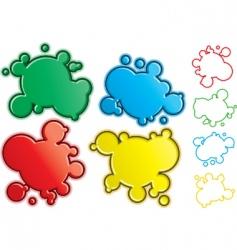 cartoon spatters vector image