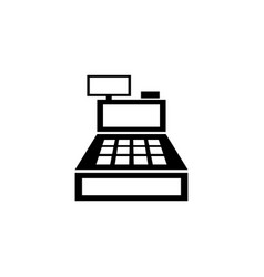 cash register machine flat icon vector image