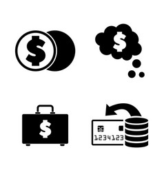 cash simple related icons vector image