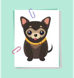 chihuahua dog picture poster vector image