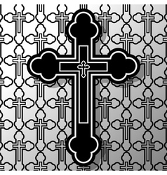 Christian cross vector