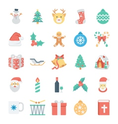 Christmas and Easter Colored Icons 1 vector