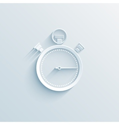 chronometer paper icon vector image