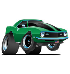 classic sixties style american muscle car cartoon vector image