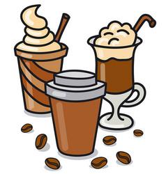 Coffee beverages vector
