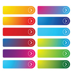 Colorful empty web button set vector