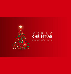 creative minimal background with christmas tree vector image