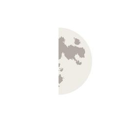 crescent moon 2 vector image