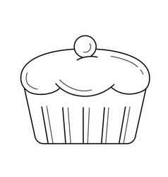 cupcake line icon vector image