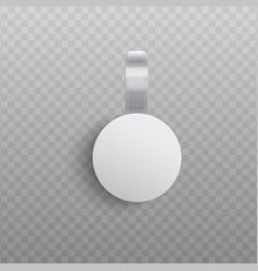 custom advertising wobbler mockup in realistic vector image