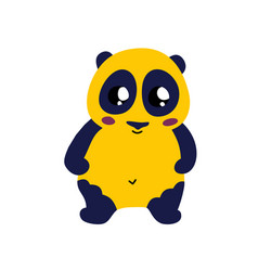 cute cartoon panda icon vector image