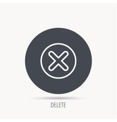 Delete icon Decline or Remove sign vector