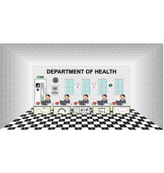 Department health office vector