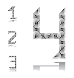 Design numbers set from 1 to 4 vector image