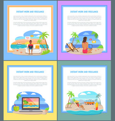 distant work and freelance commercal info banners vector image