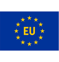 flag of european union eu twelve gold stars on vector image