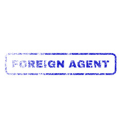 Foreign agent rubber stamp vector