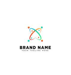 Galaxy planet logo template design vector