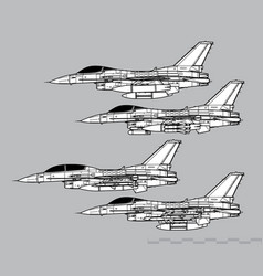 General dynamics f-16 fighting falcon vector