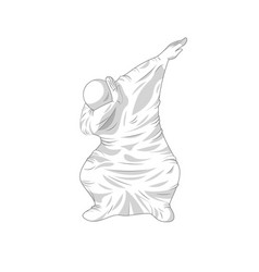 Ghost specter character dancing dab step vector