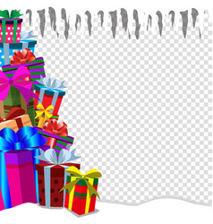 greeting card clip art with heap of presens on vector image
