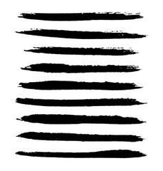 grunge stroke set vector image