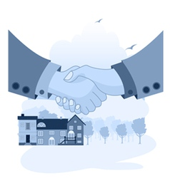 Hands together vector image