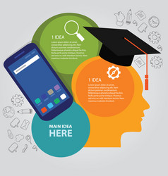 Head thinking education info-graphic business vector