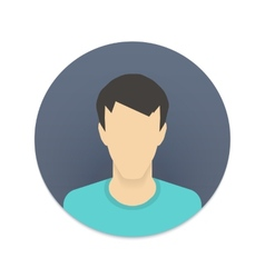 icon of user avatar for web site or mobile app vector image