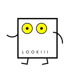 Icon surprised face vector