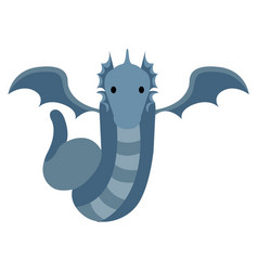 isolate cute dragon vector image