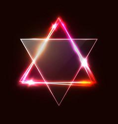 jewish david star design triangle banner vector image