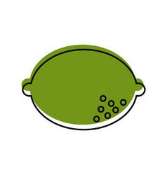 lemon fruit isolated icon vector image