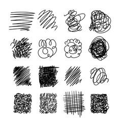 Light set of hand drawn scribble line vector