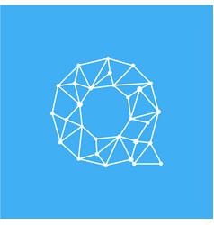 logo letter q dots lines vector image