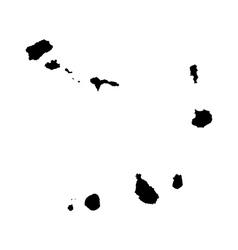 Map of cape verde vector