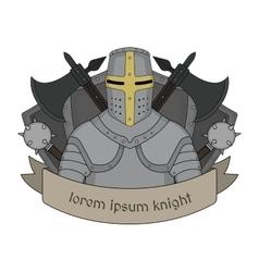 Medieval knight emblem vector image